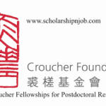 Fully Funded Croucher Fellowships for Postdoctoral Research - Hong Kong