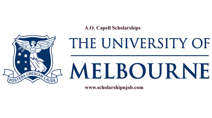 Fully Funded A.O. Capell Scholarships - University of Melbourne, Australia