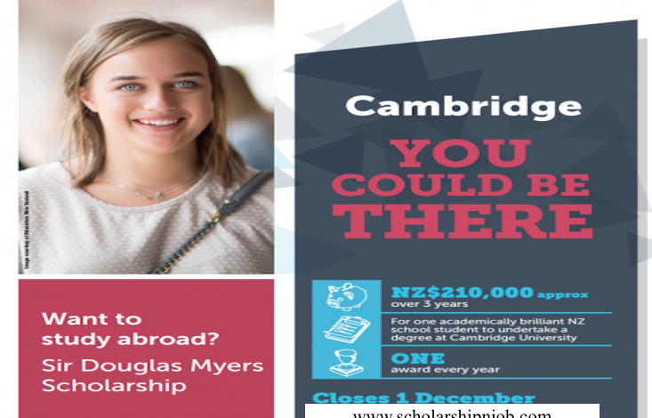 Fully Funded Sir Douglas Myers Scholarship - University of Cambridge, United Kingdom