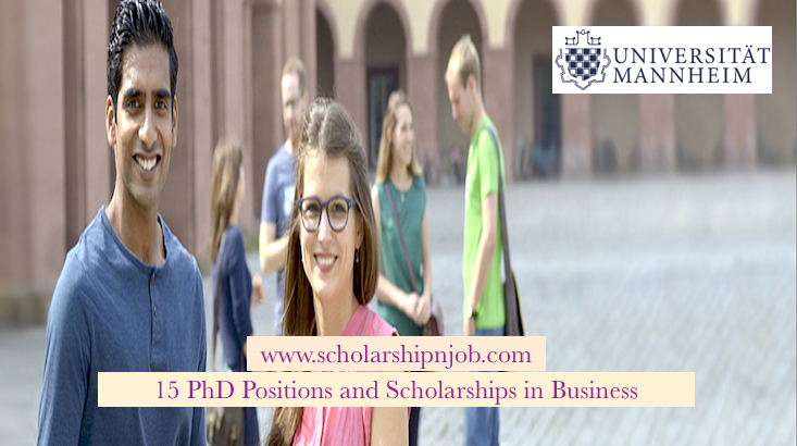 Fully Funded 15 PhD Positions and Scholarships in Business - University of Mannheim, Germany
