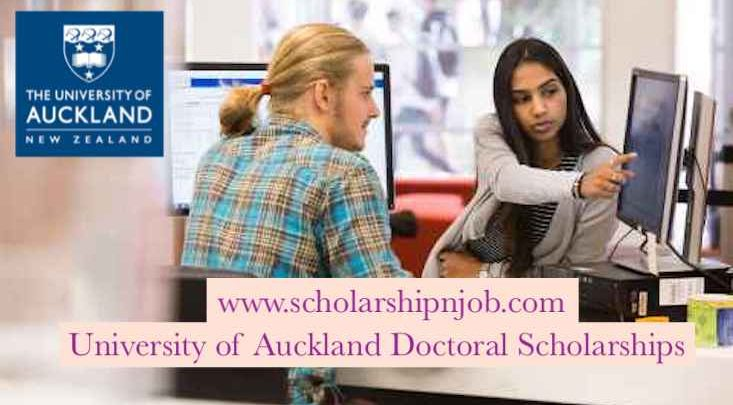 Fully funded University of Auckland Doctoral Scholarships